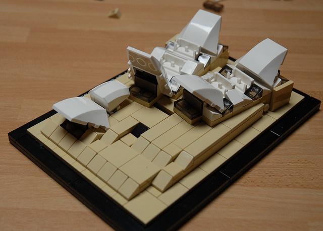Sydney Opera House Architecture LEGO kit #21012, via Flickr.