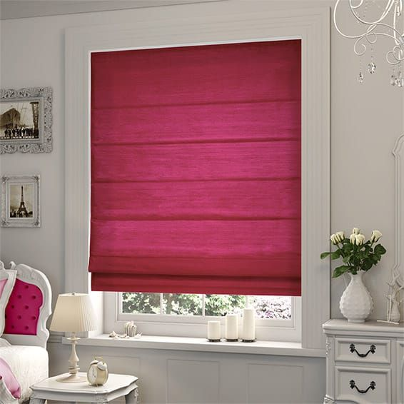 Samite Shocking Pink Roman Blind