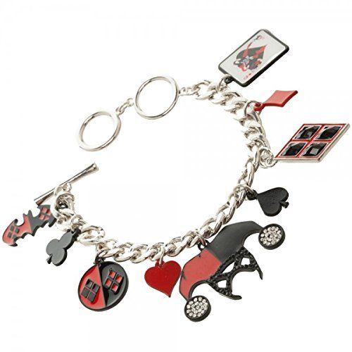 Bracelet - DC Comics - Harley Quinn Charm New Toys Licensed fj35pkdco: Amazon.co.uk: Clothing