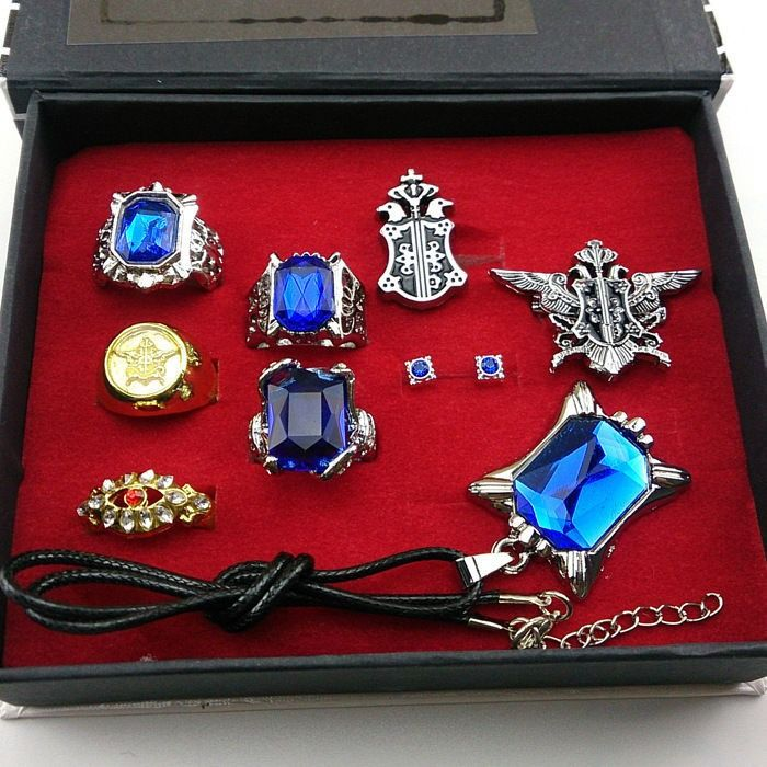 Black Butler Jewelry Set (9 Pieces)