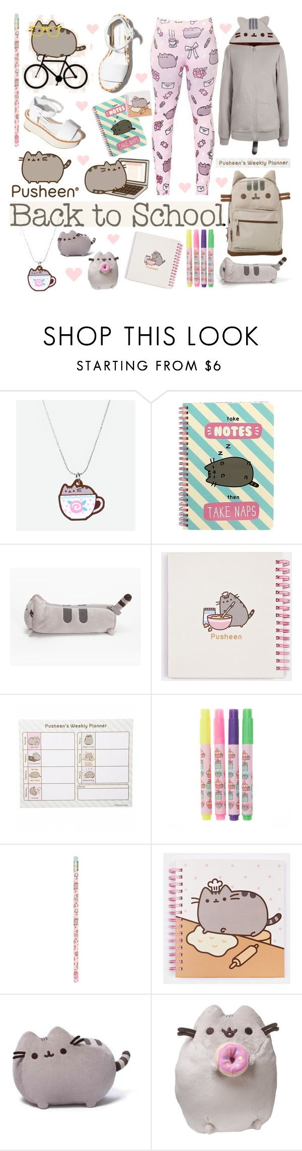 """""""#PVxPusheen Back to School With Pusheen"""" by piedraandjesus ❤ liked on Polyvore featuring Pusheen, Paloma Barceló, Gund, contestentry and PVxPusheen"""