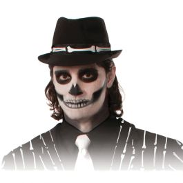 Add in this Fedora skeleton hat to a skeleton costume or even day of the dead./Wally's Party Factory #Black #Skeleton #Fedora