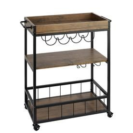 Wenko Brown Industrial Kitchen Cart 54125100 #Products