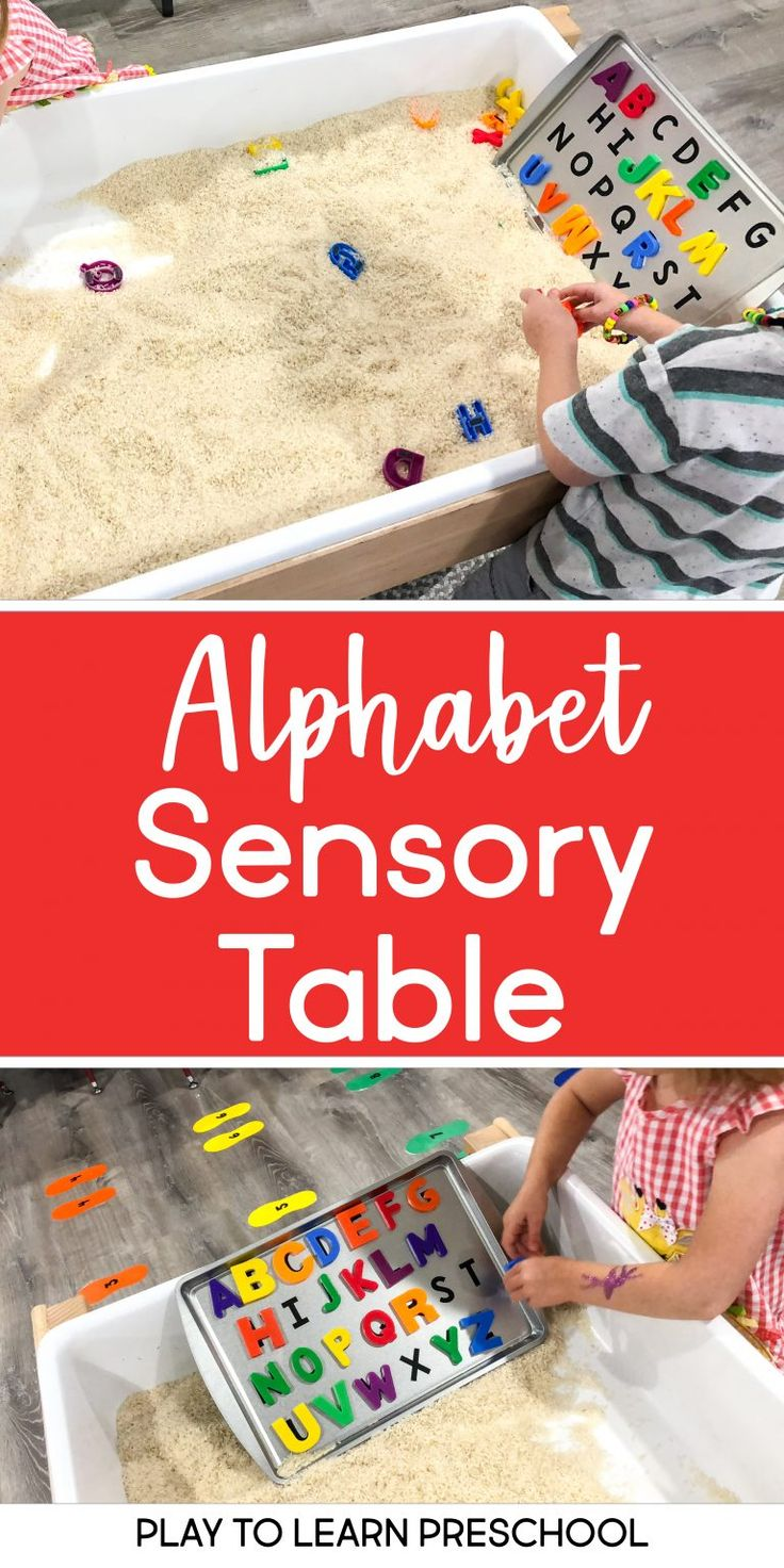 Alphabet Matching – Literacy in the Sensory Table