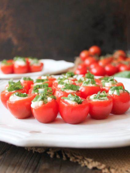 Bouchées de tomates cerises...balsamique et miel! #entrée #tomates #balsamique #miel
