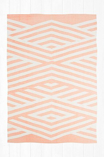 Tove 5x7 Rug in Peach  - Urban Outfitters (I never knew Urban Outfitters had so many lovely rugs and bedding!)