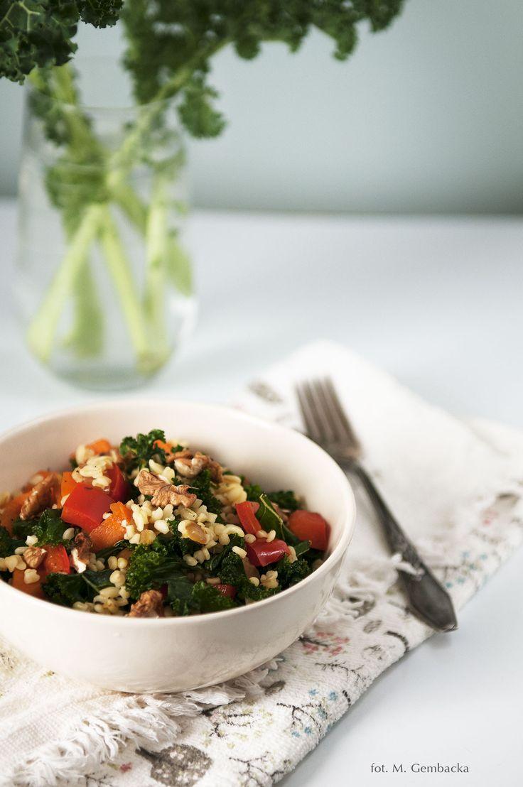 kale & bulgur salad