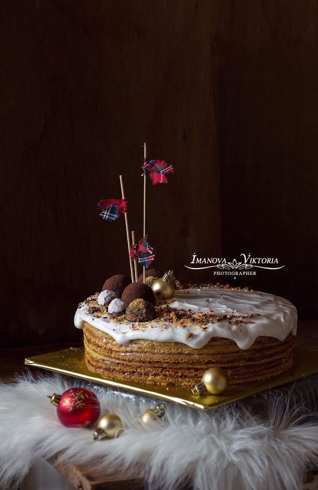 Торт медовый-заварной на День рождение супруга 11 января!