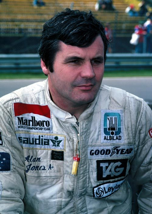 Alan Jones 1980 World Champion. A gentlemen in public, he was a furious competitor on track