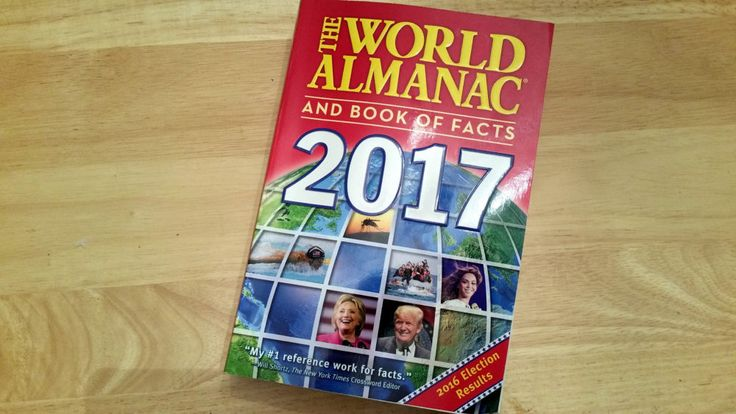 Looking Back on 2016 With a Copy of 'The World Almanac' - https://geekdad.com/2016/12/world-almanac/?utm_campaign=coschedule&utm_source=pinterest&utm_medium=GeekMom&utm_content=Looking%20Back%20on%202016%20With%20a%20Copy%20of%20%27The%20World%20Almanac%27