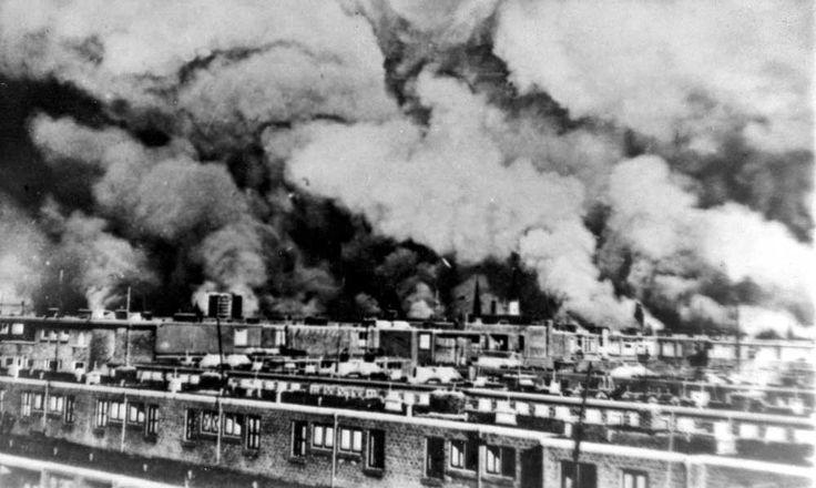 brand na bombardement