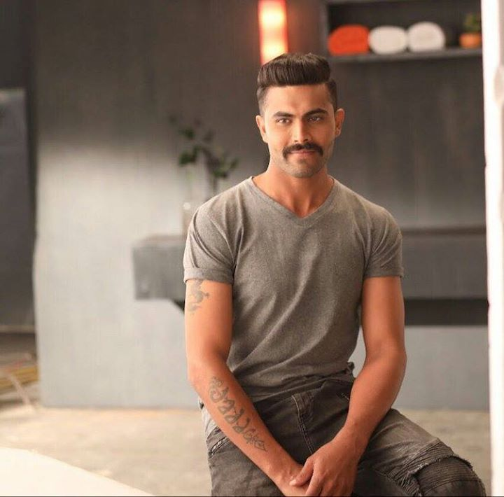 Ravindra Jadeja in his new look - facebook.com/MyCricketTrolls