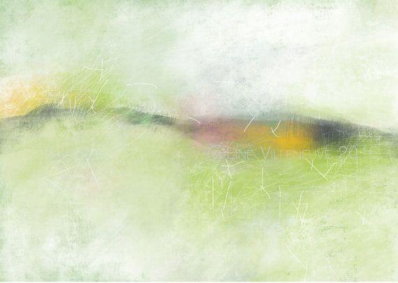 Dessin abstrait impression d'art 4 formats par LineVilleneuveArtNum
