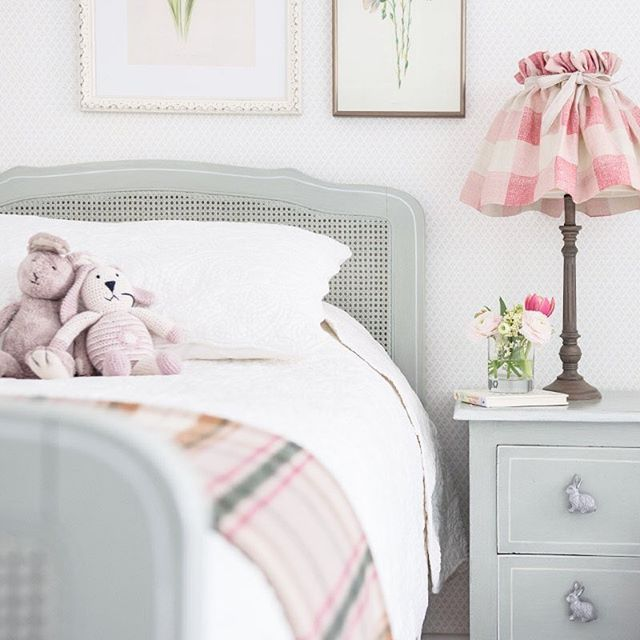 """Little girls bedroom design from the wonderful Ellen Ripa Interiors - """"So excited to finally share a first pic from our recently completed London Mews project! It was lovely creating schemes for the sweetest little girls and their parents. Here we went for a more Classic Scandinavian look"""" #scandinavianinteriordesign"""