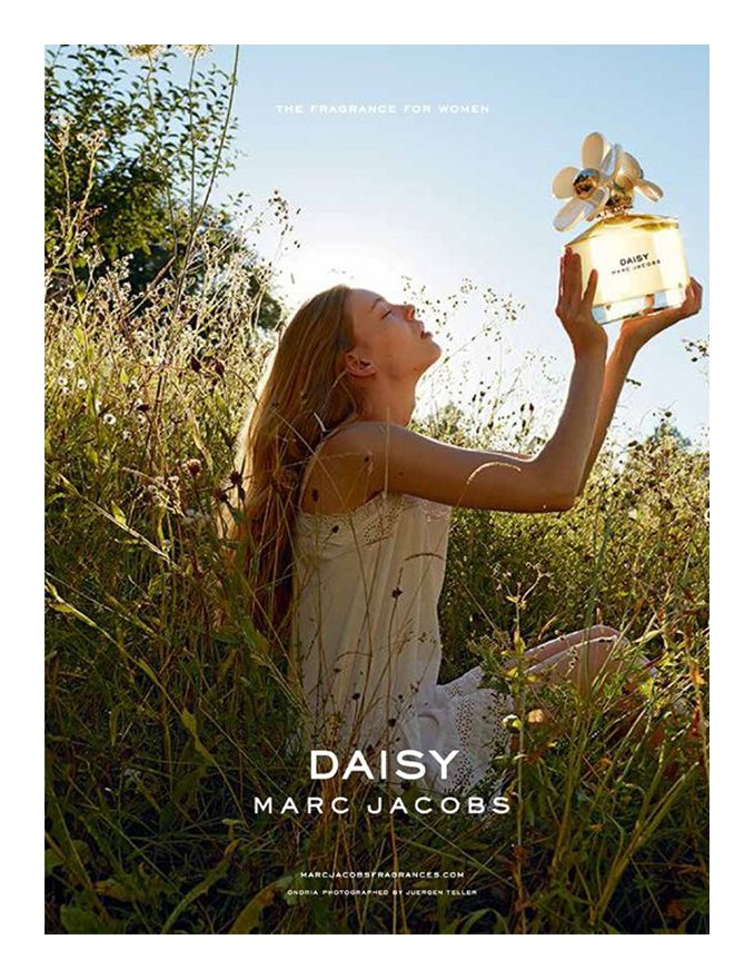 Ondria Hardin models for the new Marc Jacobs Daisy campaign