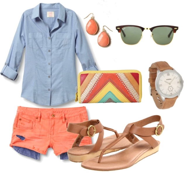Shorts, Chambry, Summer, Sandals, Casual