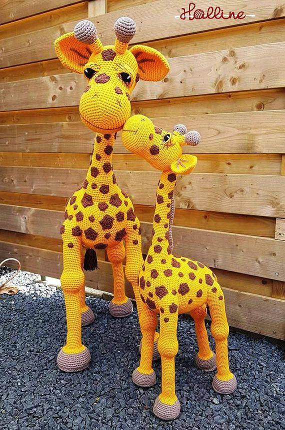 Crochet pattern Giraffe April crochet amigurumi giraffe, English, Dutch and German, zoo animal, giraffe toy