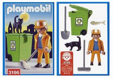 PLAYMOBILE 3196 Sanitation Worker 2000