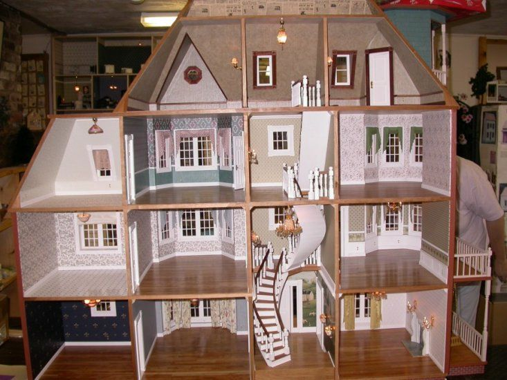 Glencliff Dollhouse Kit (63 pics) incredible woodwork & detail