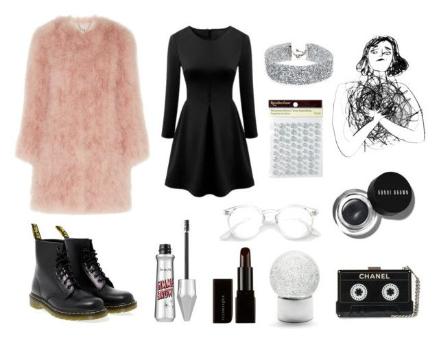 """Ny Batteri"" by matildetilde on Polyvore featuring Nordstrom, Topshop Unique, DANNIJO, Illamasqua, Dr. Martens, Bobbi Brown Cosmetics and WithChic"