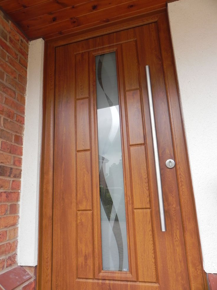 The rockdoor vermont in light oak with the haze for Modern front door lights