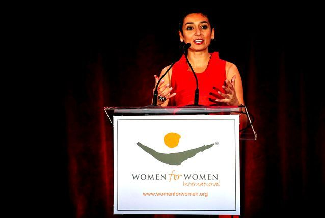 Zainab Salbi is the founder of Women for Women International and was its CEO from 1993 to 2011, helping female war survivors rebuild their lives by giving them access to social opportunities. Since 1993, the organisation claims to have distributed more than $103m in direct aid and micro credit loans and has impacted more than 1.7 million people. Salbi has been named one of the Top 100 Women Activists by the Guardian, and a Female Faith Heroine by the Tony Blair Faith Foundation.