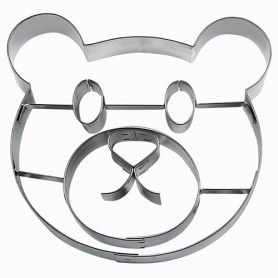 RVS uitsteker  teddybeer gezicht van Städter. Maak lekkere koekjes of decoraties van fondant en marsepein voor het decoreren en versieren een prachtige taart!