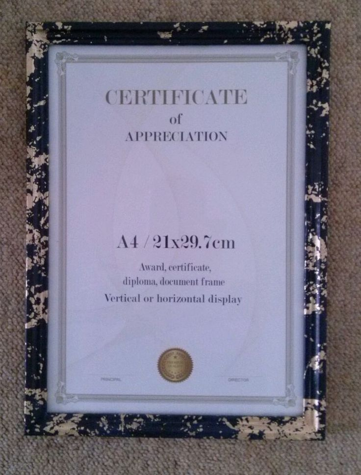 Handmade decoupage picture/certificate frame