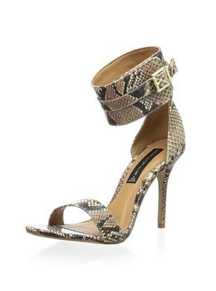 54% OFF STEVEN by Steve Madden Women's Mauryce Dress Pump (Natural Snake)