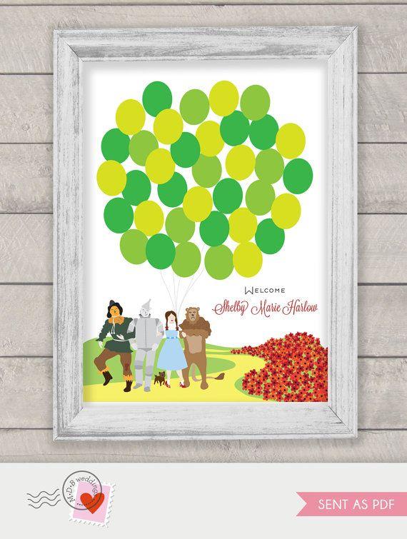 Wizard of Oz Guest Book Baby shower or Wedding by MDBWeddings, $48.00