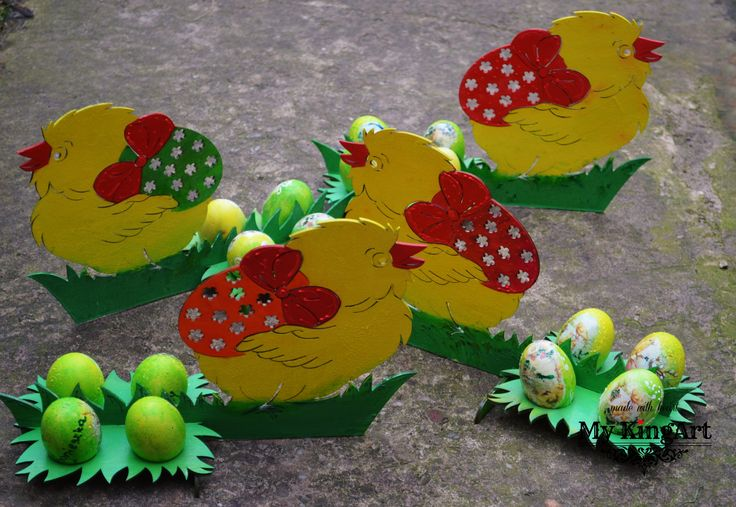 wooden easter decor