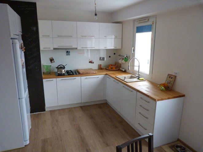 kuchnia biel i drewno