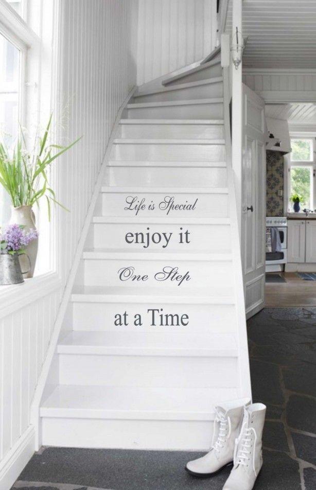 Een leuke tekst voor op de trap