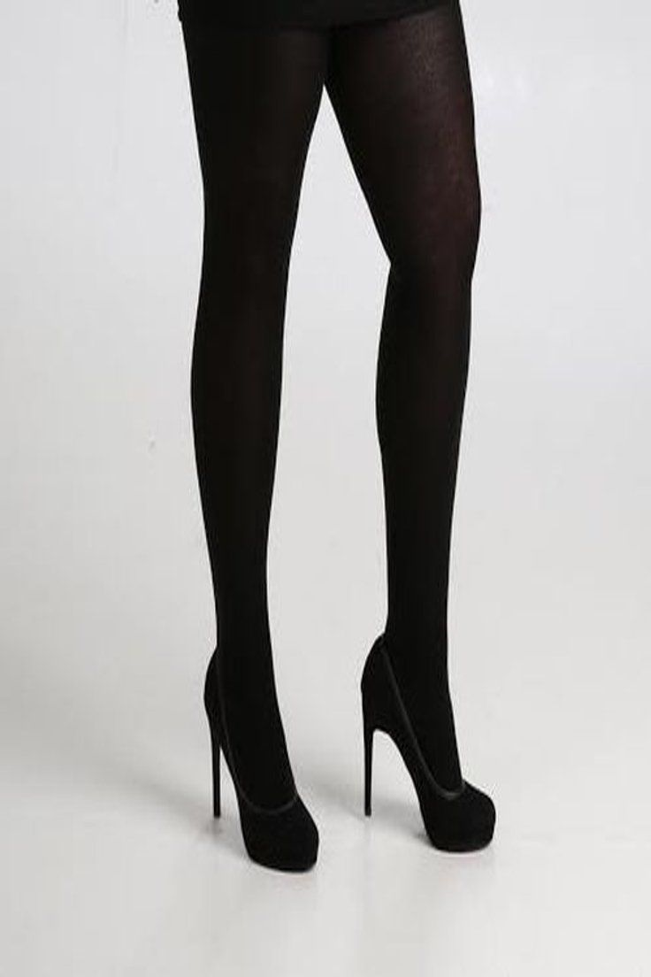 1e51b469fa86b 9.99 GBP | 140 DENIER OPAQUE BLACK TIGHTS PLUS SIZE 16 TO 32 XL XXL XXXL