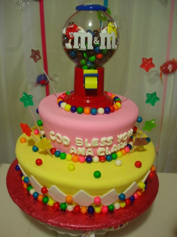 M & Ms cake!