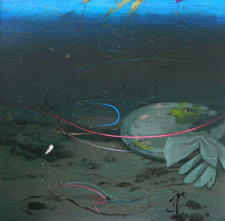 Giuseppe Gonella Uroboro 2014, Acrylic on canvas/Acryl auf Leinwand 60 x 60 cm