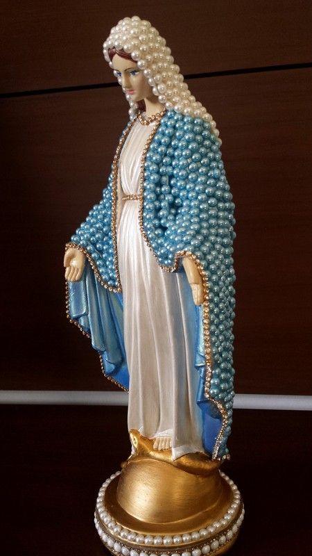Nossa Senhora das Graças com pérolas – 35 cm