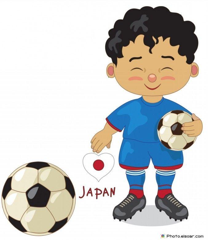 Japan National Jersey, Cartoon Soccer Player