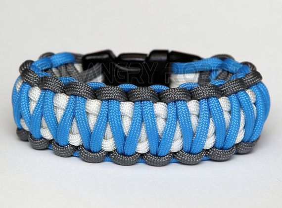 This listing is for one handcrafted KING COBRA Paracord Bracelet, also known as a survival bracelet. Bracelet is made to order in the size you need. These bracelets are made with 7 strand 550 Paracord. In an emergency, bracelet can be taken apart so you can use the cord. This is