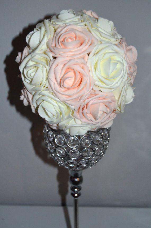 Ivoire & Rose BLUSH mélange fleur boule Pomander par KimeeKouture