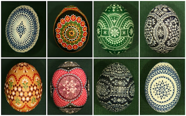 Sorbian Easter eggs in a variety of styles and techniques.