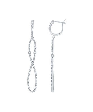 Look what I found on #zulily! White Topaz & Sterling Silver Infinity Earrings #zulilyfinds