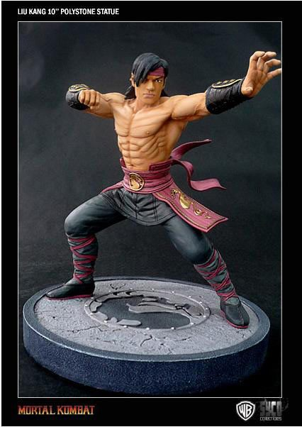 Estatua Mortal kombat. Liu Kang, 25 cms  Estatua de 25 cms perteneciente al popular videojuego de pelea Mortal kombat, con el personaje Liu Kang.