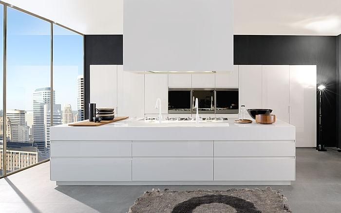 contemporary matt lacquer kitchen CONVIVIUM by A. Citterio Arclinea