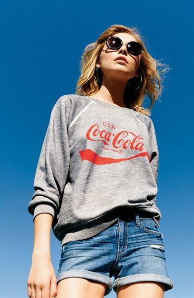 Nordstrom Online & In Store: Shoes, Jewelry, Clothing, Makeup, Dresses 70s Inspired Fashion, Vintage Tee Shirts, Fashion Project, Wildfox, Fashion Pictures, Coca Cola, Cute Outfits, Nordstrom, Graphic Sweatshirt