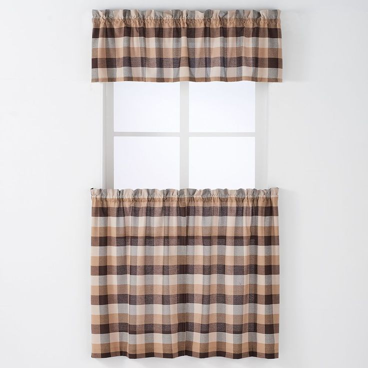 Arlee 3-pc. Nottingham Plaid Woven Rod Pocket Curtain and Valance Set, Other Clrs
