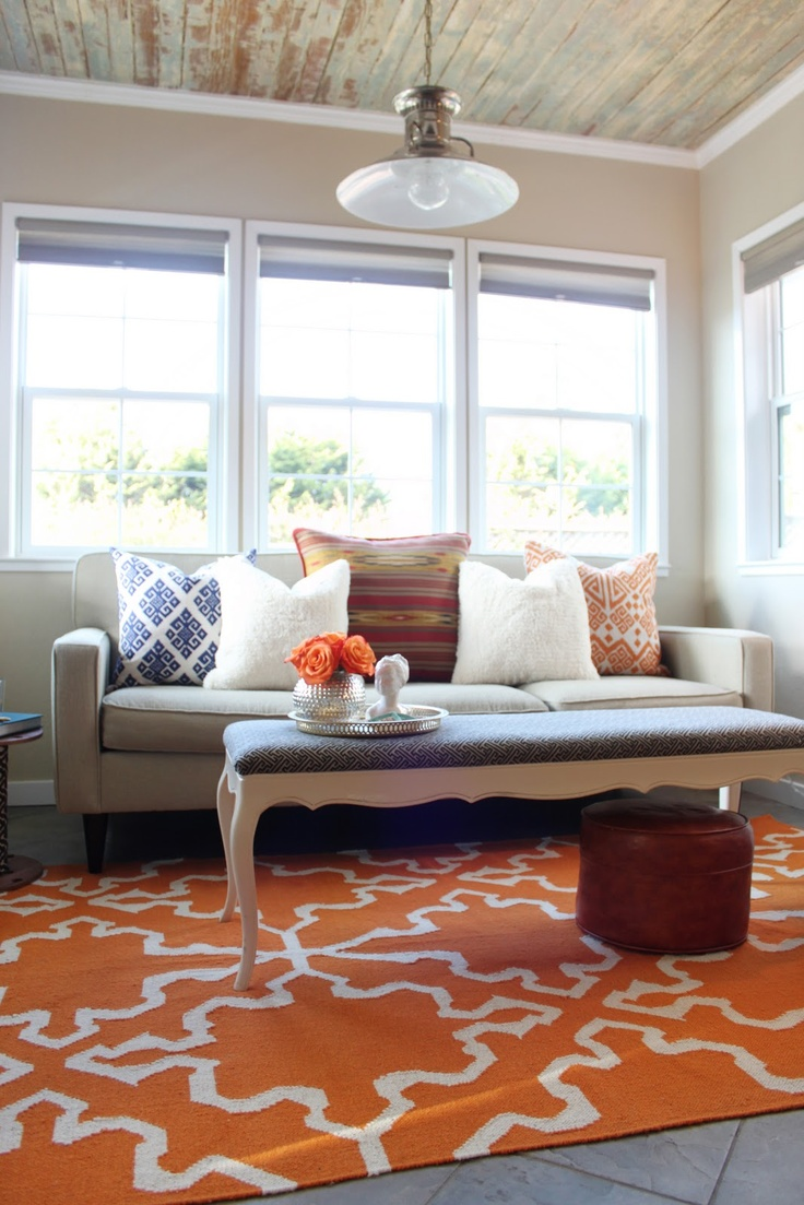Refinished Bench Via Little Green Notebook Living Room Tour A Glass Box
