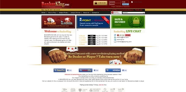 Agen casino Bankerking menyediakan user id permainan terbaru Games Casino Online BANKERKING.Website entertainment ini menawarkan berbagai pilihan game casino berating tinggi dengan sistem p2p live game.
