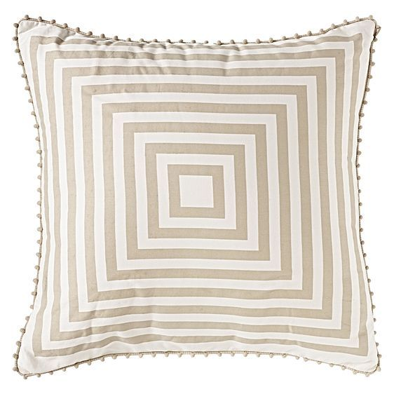 Accent your stylish home with the colour and detail within the Rosemont Square Cushion from Sheridan.