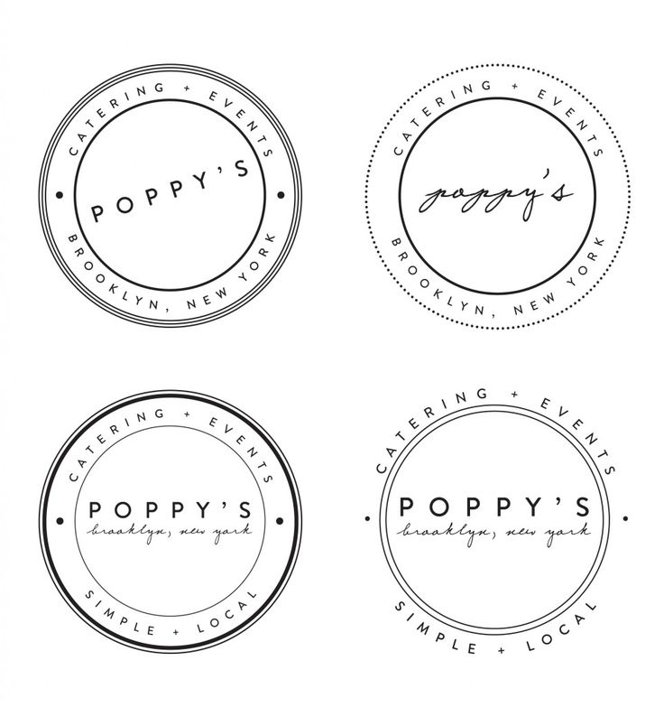 swisscottagedesigns: poppy's catering logos